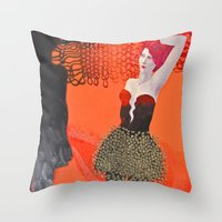 shadow Throw Pillows featuring Shadow by doviArt