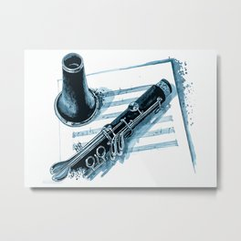 Clarinet Clarinet Parts Metal Print