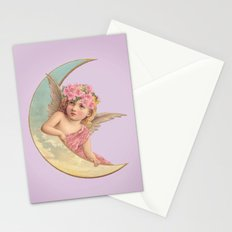 Victorian Moon Angel Stationery Cards