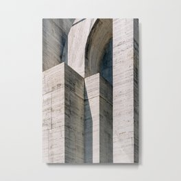 Brutalism ᝢ Milano Italy travel photography art ᝢ brutalist architectural photo print Europe Metal Print