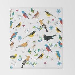 Polish birds Throw Blanket