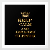 keep calm Art Prints featuring Keep calm by UtArt