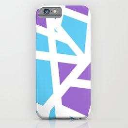 Abstract Interstate  Roadways Aqua Blue & Violet Color iPhone Case