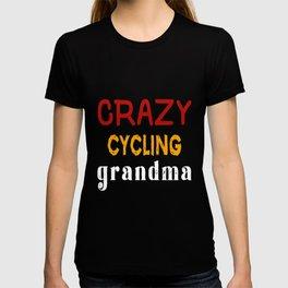 Crazy Cycling Grandma T-shirt