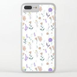 Tulum Floral 4 Clear iPhone Case
