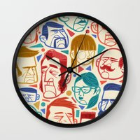 faces Wall Clocks featuring Faces by Lawerta