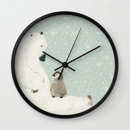 penguin and bear Wall Clock