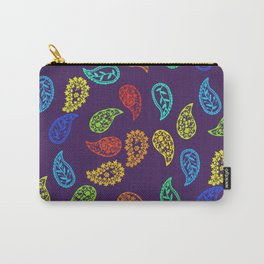 Paisleys on purple Carry-All Pouch