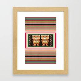 Nick's Blanket 1968 Version 2 (With Figures) Framed Art Print