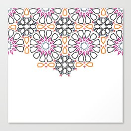 Moroccan Mosaic Colorful 2 Canvas Print
