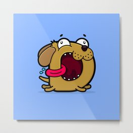 The Drooling Doggy Metal Print
