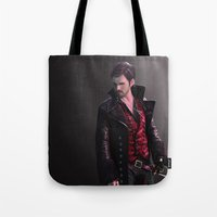 hook Tote Bags featuring Hook by Mel Hampson
