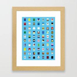 Minimalism beloved Videogame Characters Framed Art Print