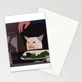 Salad cat meme Stationery Cards
