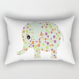 cute floral elephant Rectangular Pillow