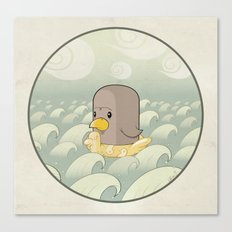 Chick Across the Sea Canvas Print