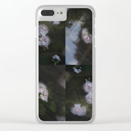 Abstract with geraniums Clear iPhone Case