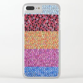 Textile Stripes and Dots Design - Portrait Orientation Clear iPhone Case