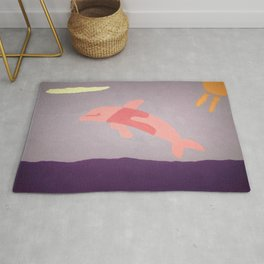 Pink Dolphin Rug