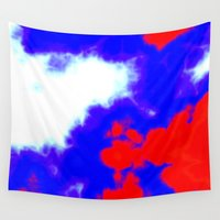 patriotic Wall Tapestries featuring Patriotic Sky by Christy Leigh