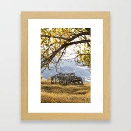 Lean To - Mormon Row - Grand Tetons Framed Art Print