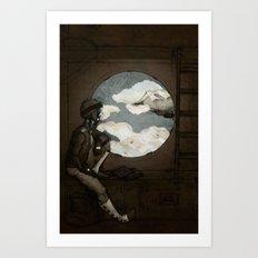Aviator Girl (Steampunk) Art Print