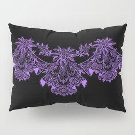 Vintage Lace Hankies Black and Purple Pillow Sham