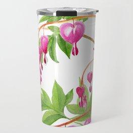 Bleeding Hearts Flowers Vertical Design Travel Mug