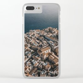 Town or Syracuse, Sicily from above. Clear iPhone Case