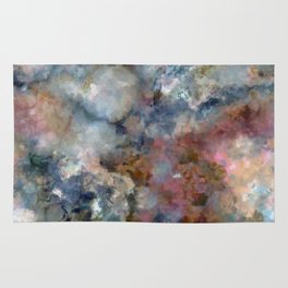 Colorful watercolor nebula onyx Rug