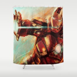Big man in a suit of armor Shower Curtain