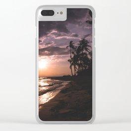 Sunset beach. San Blas, Panama Clear iPhone Case