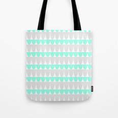 Mint & Silver Scallop Tote Bag