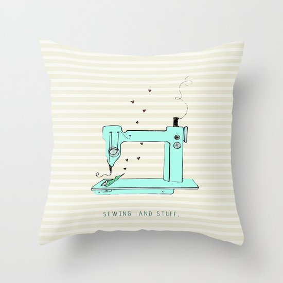 sew and stuff... Throw Pillow
