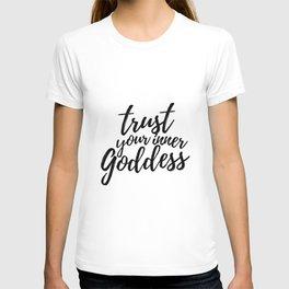 Trust Your Inner Goddess (Light) T-shirt