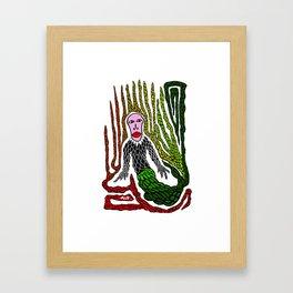 The Genius Birdman no background Framed Art Print