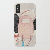 dance iPhone & iPod Cases featuring raccoon dance by Nayoun Kim