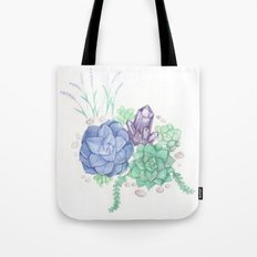 Botanical Succulents Tote Bag
