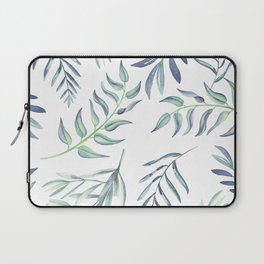Floating Leaves Blue #society6 #buyart Laptop Sleeve