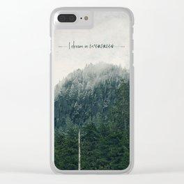 I Dream in Evergreen 2 Clear iPhone Case