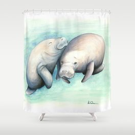 Manatee Love Shower Curtain
