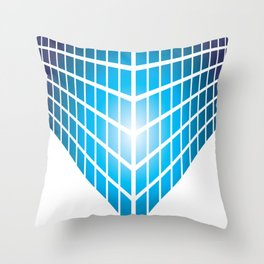 BLUE AND PURPLE SQUARES ON A WHITE BACKGROUND Abstract Art Throw Pillow