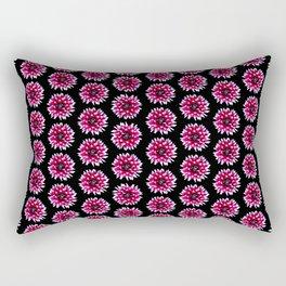 Dahlias Pattern  in Pink, Red Rectangular Pillow