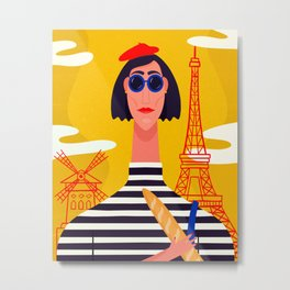 I Love Paris Metal Print