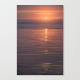 Sunset Sings Quietly Canvas Print