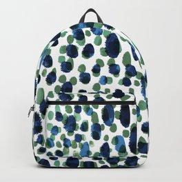 Blue & Green Brushstrokes Backpack