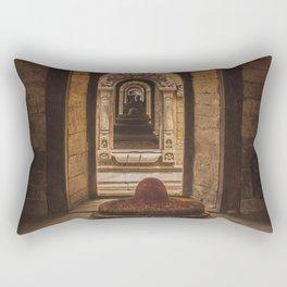 Exploring Pashupatinath Temple in Kathmandu City, Nepal Rectangular Pillow