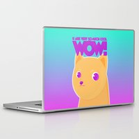 doge Laptop & iPad Skins featuring Wow dog by Oh wow!
