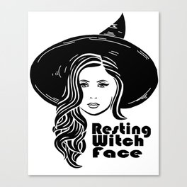 Resting Witch Face Canvas Print
