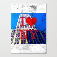 30 rock Canvas Prints featuring I Love NY - 30 Rock  by Illumination House